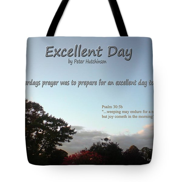 Excellent Day Tote Bag