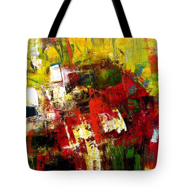 Tote Bag featuring the painting Excited by Katie Black