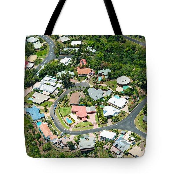 Exclusive Houses On Hilltop Cul-de-sac Tote Bag