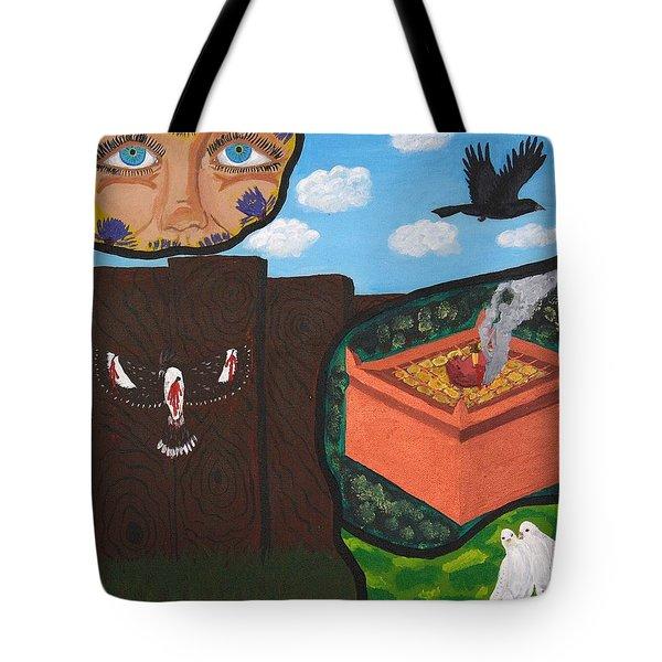 Excruciating Victory Tote Bag by Vicki Maheu
