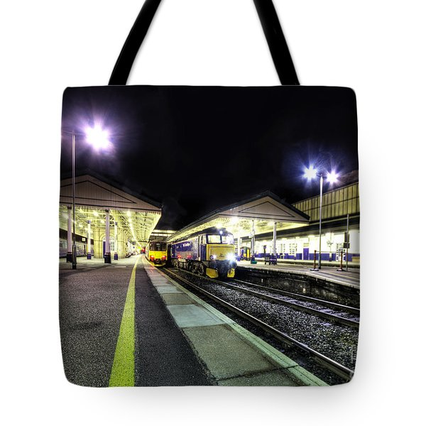 Exeter St Davids By Night  Tote Bag by Rob Hawkins