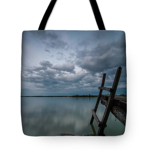 Exit Tote Bag by Davorin Mance