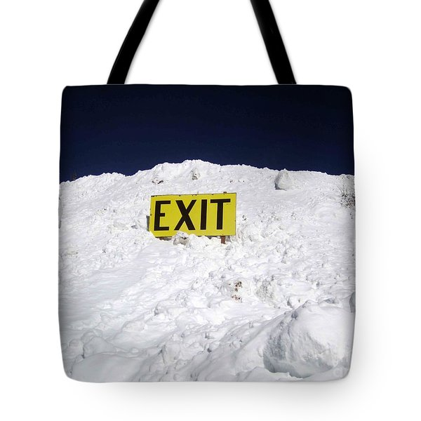 Tote Bag featuring the photograph Exit by Fiona Kennard