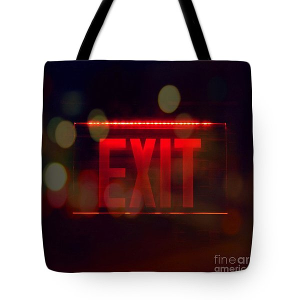 Exit Into The Night Tote Bag by Darla Wood