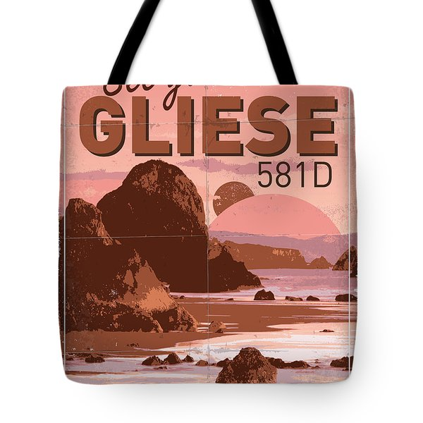 Exoplanet 01 Travel Poster Gliese 581 Tote Bag