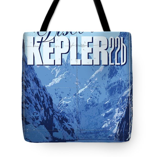 Exoplanet 02 Travel Poster Kepler 22b Tote Bag by Chungkong Art