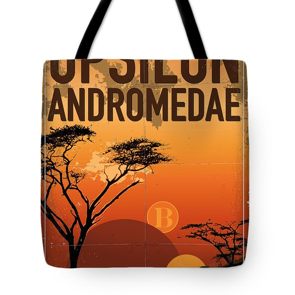 Exoplanet 06 Travel Poster Upsilon Andromedae 4 Tote Bag by Chungkong Art