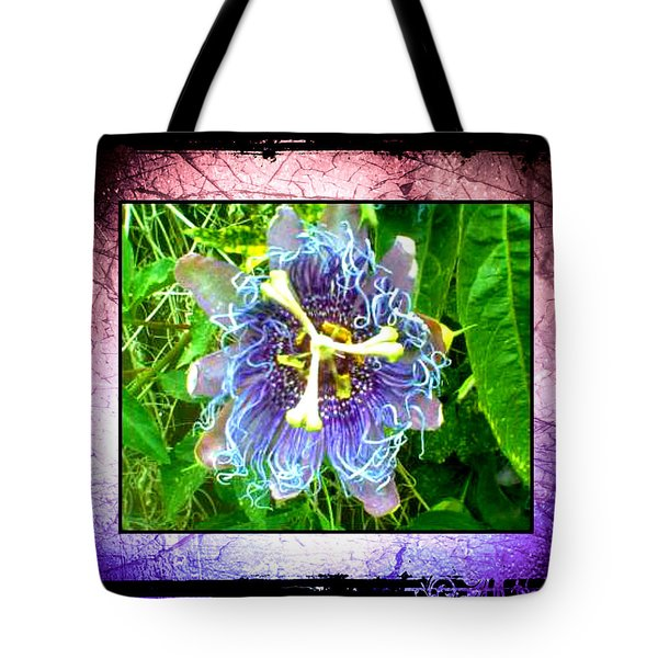 Tote Bag featuring the photograph Exotic Strange Flower by Absinthe Art By Michelle LeAnn Scott