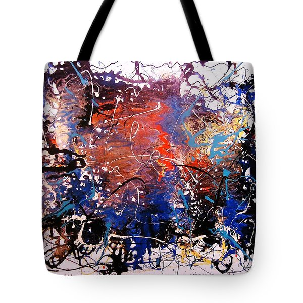 Tote Bag featuring the painting Exotic Zone by Roberto Prusso