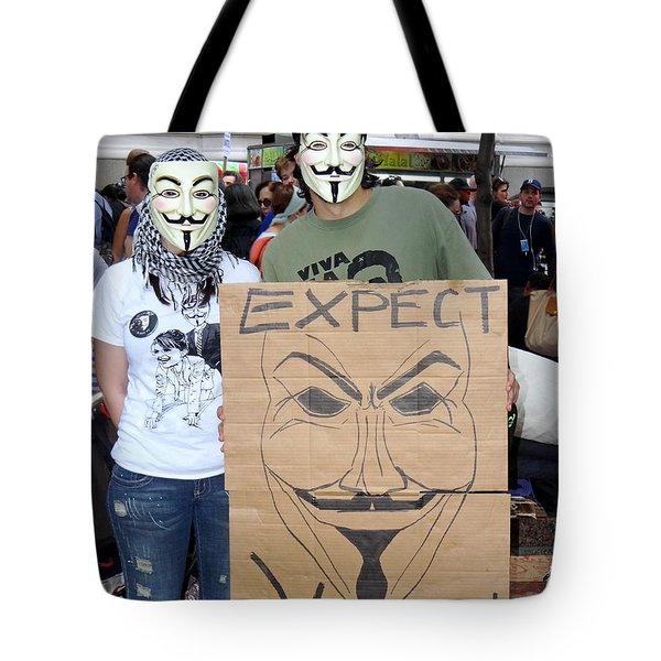 Tote Bag featuring the photograph Expect Revolution by Ed Weidman