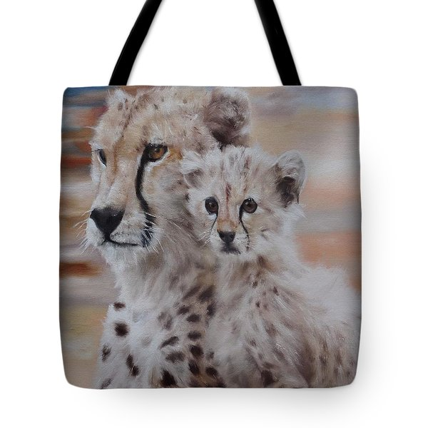 Tote Bag featuring the painting Expectation by Cherise Foster