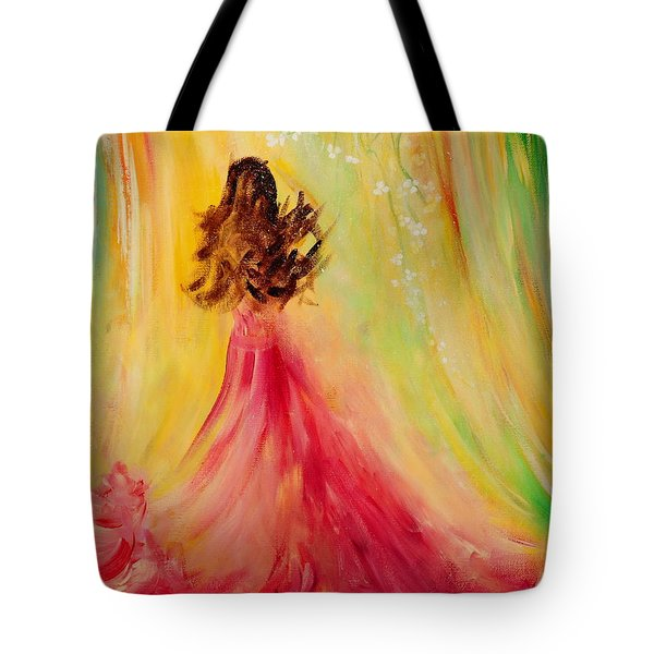 Expecting Tote Bag by Teresa Wegrzyn