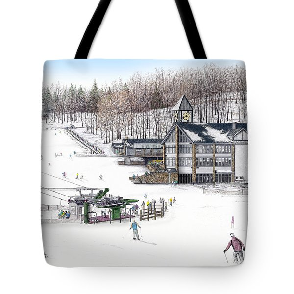 Tote Bag featuring the painting Experience Hidden Valley by Albert Puskaric