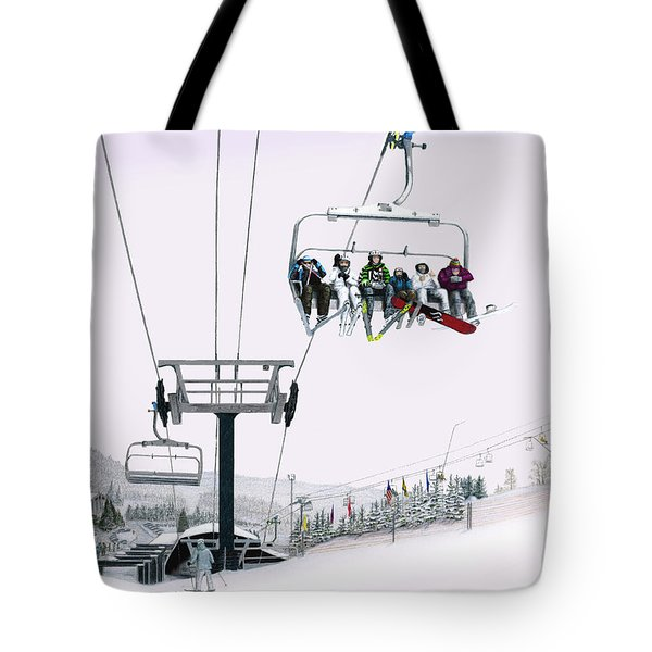 Tote Bag featuring the painting Experience Seven Springs by Albert Puskaric