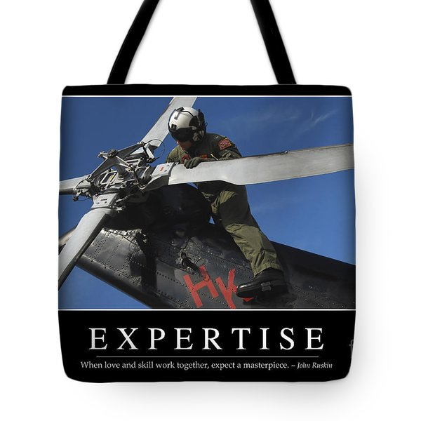 Expertise Inspirational Quote Tote Bag by Stocktrek Images