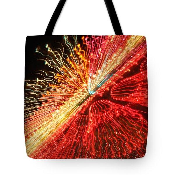 Exploding Neon Tote Bag