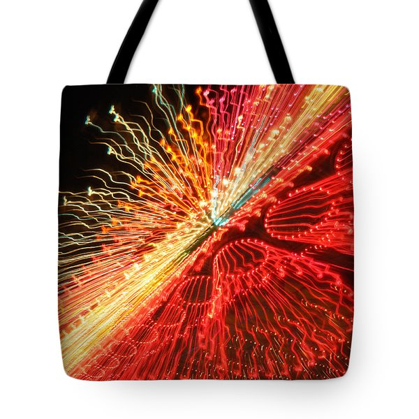 Exploding Neon Tote Bag