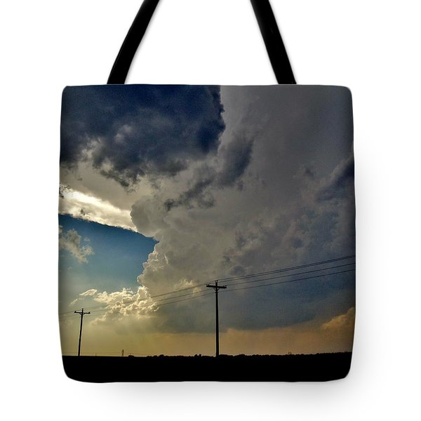 Explosive Texas Supercell Tote Bag by Ed Sweeney