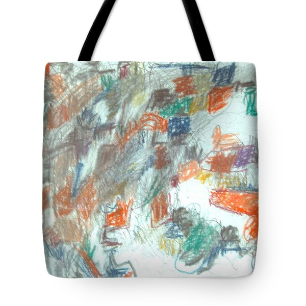 Tote Bag featuring the mixed media Express Graphic by Esther Newman-Cohen