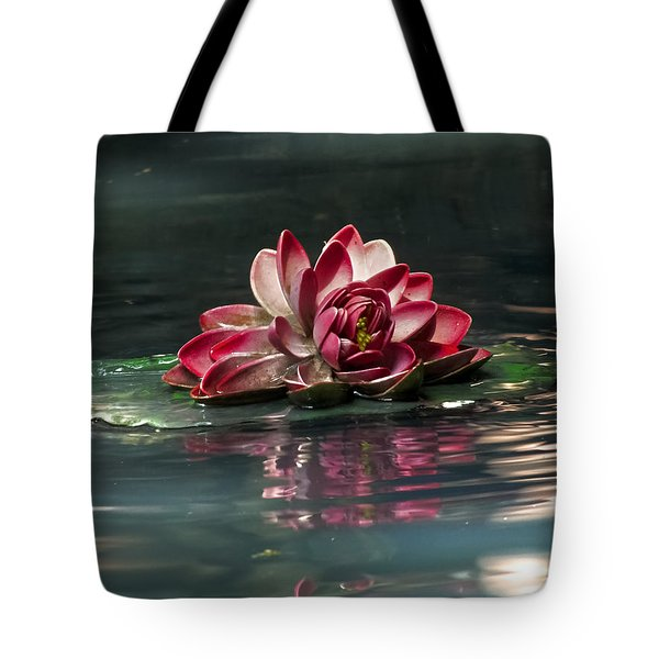 Tote Bag featuring the photograph Exquisite Water Flower  by Lucinda Walter