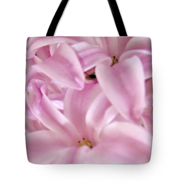 Extrem Pink Macro Hyacyn Tote Bag by Danielle  Parent