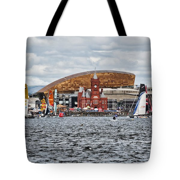 Extreme 40 At Cardiff Bay Tote Bag