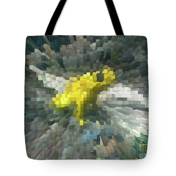 Tote Bag featuring the photograph Extrude Yellow Frog by Donna Brown