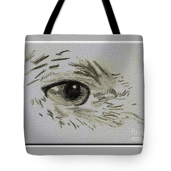 Eye - A Pencil Drawing By Marissa Tote Bag