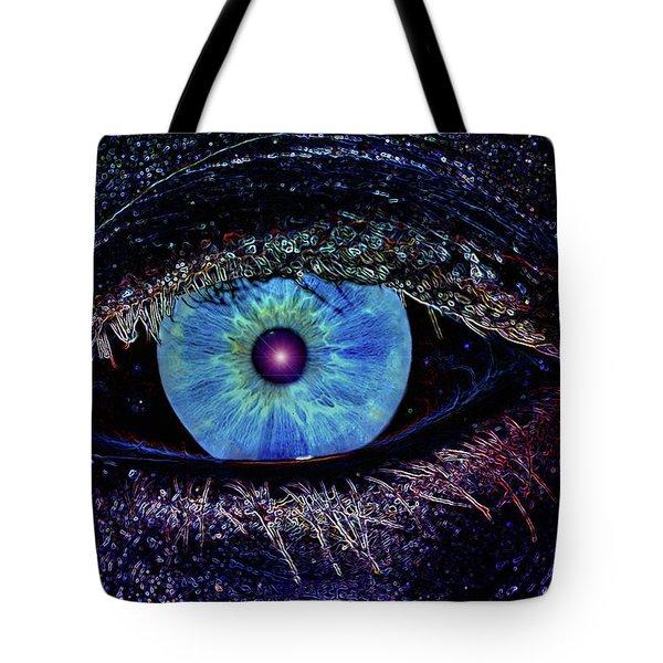 Eye In The Sky Tote Bag by Joann Vitali
