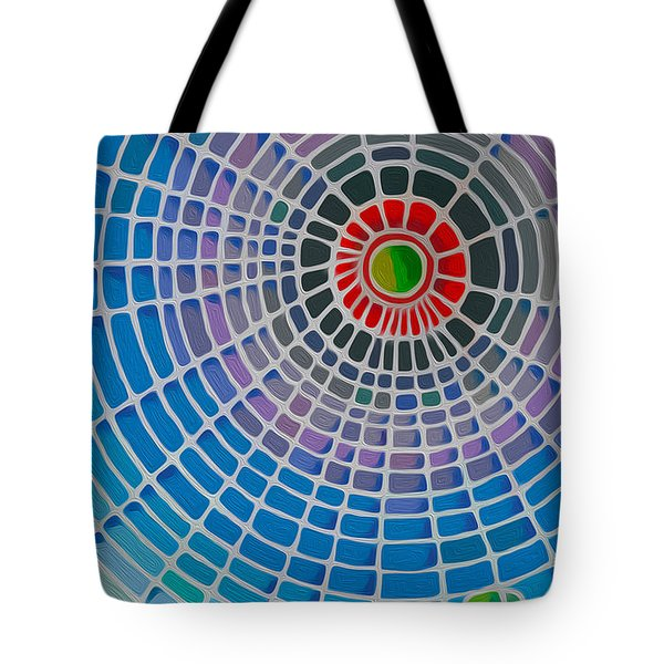 Tote Bag featuring the digital art Eye Of God by Anthony Mwangi