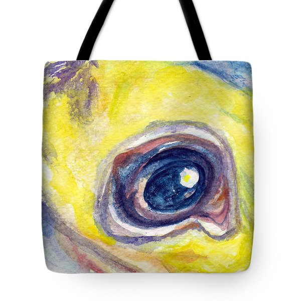 Tote Bag featuring the painting Eye Of Pelican by Ashley Kujan