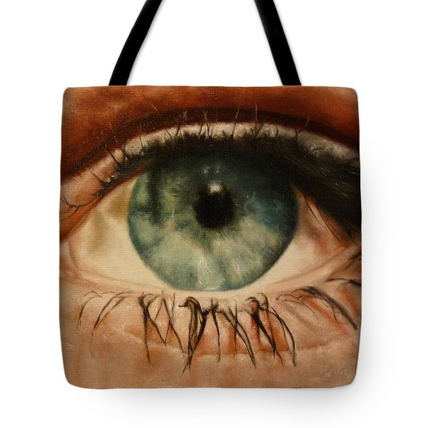 Tote Bag featuring the painting Eye Of The Beholder by Cherise Foster