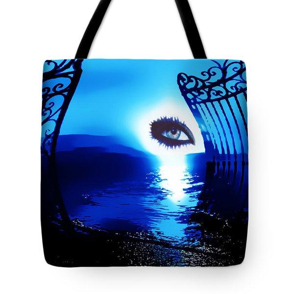 Tote Bag featuring the digital art Eye Of The Beholder by Eddie Eastwood