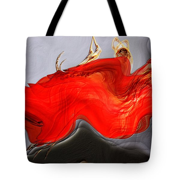 Tote Bag featuring the digital art Eye Of The Beholder by Richard Thomas