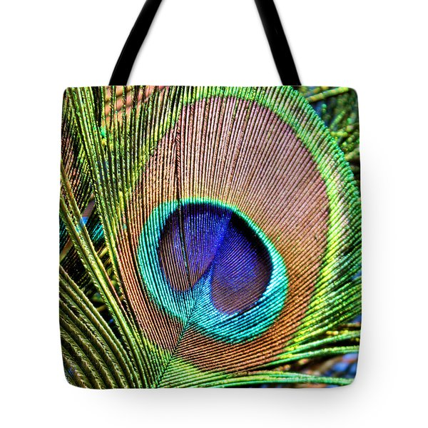 Eye Of The Feather Tote Bag