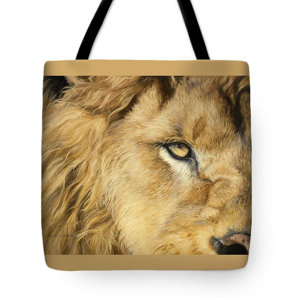 Eye Of The Lion Tote Bag by Lucie Bilodeau