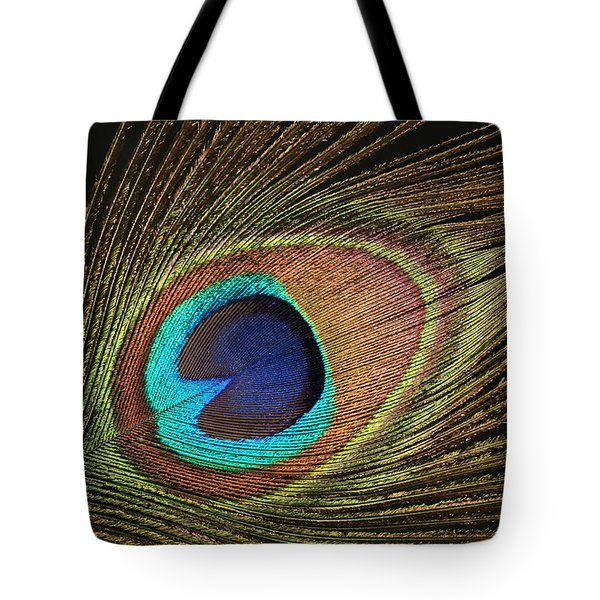 Eye Of The Peacock #5 Tote Bag