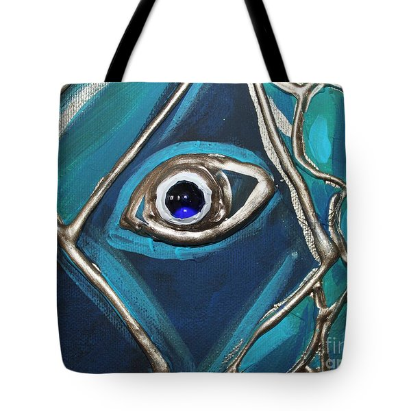 Eye Of The Peacock Tote Bag by Cynthia Snyder