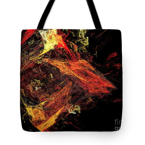 Eye Of The Storm 3 - Mass Chaos - Abstract - Fractal Art Tote Bag by Andee Design