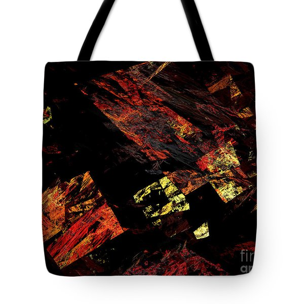 Eye Of The Storm 4 - Flying Debris - Abstract - Fractal Art Tote Bag by Andee Design