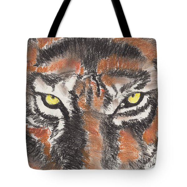 Eye Of The Tiger Tote Bag by David Jackson