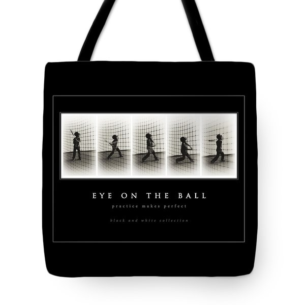 Eye On The Ball - Black Background Tote Bag by Greg Jackson