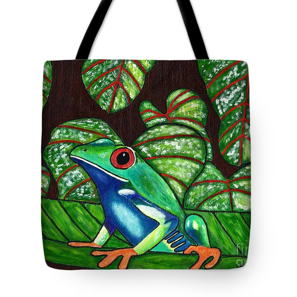 Tote Bag featuring the painting Eye On You by Laura Forde