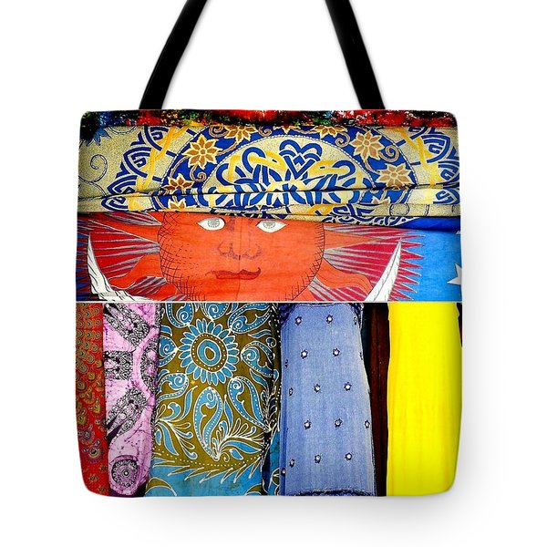 Tote Bag featuring the photograph New Orleans Eye See Fabric In Lifestyles by Michael Hoard