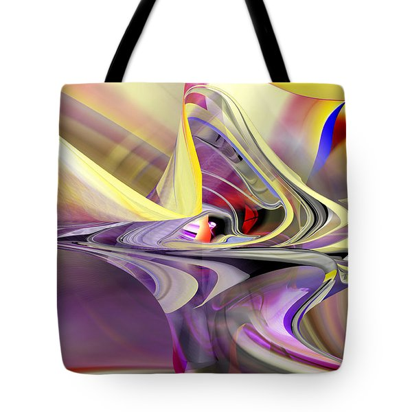 Eye Watcher - Abstract Art Tote Bag by rd Erickson