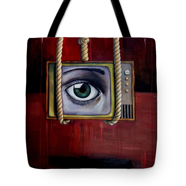 Eye Witness Tote Bag by Leah Saulnier The Painting Maniac