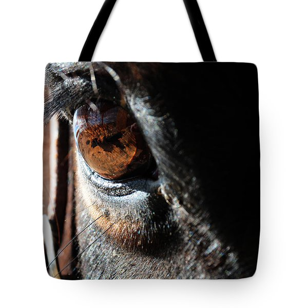 Tote Bag featuring the photograph Eyeball Reflection by Susie Rieple