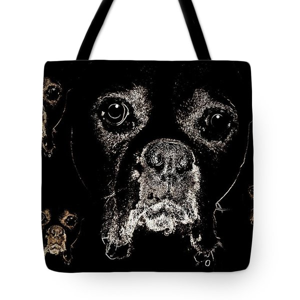 Eyes In The Dark Tote Bag by Maria Urso