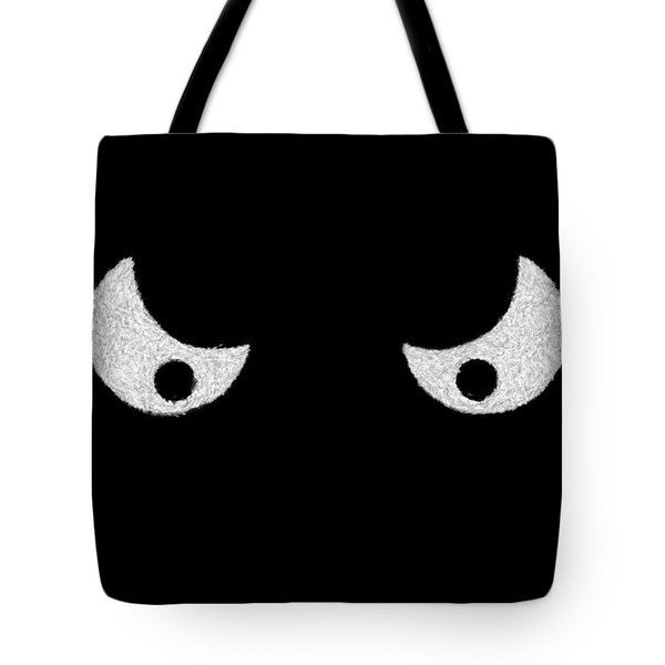 Eyes - In The Dark Tote Bag by Mike Savad