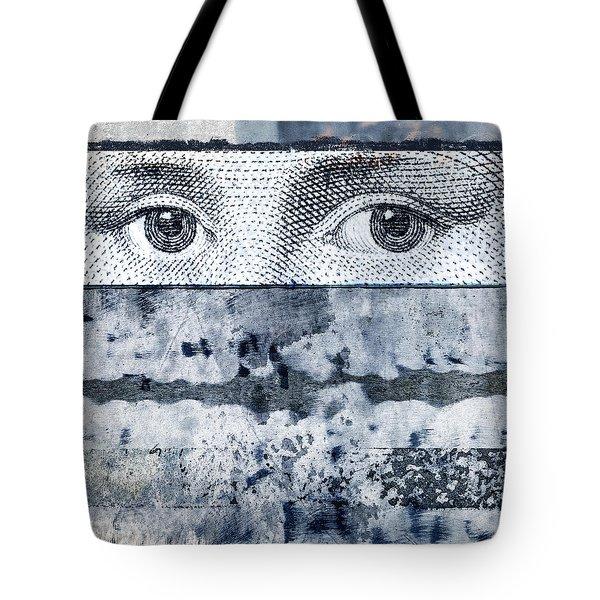 Eyes On Blue Tote Bag by Carol Leigh